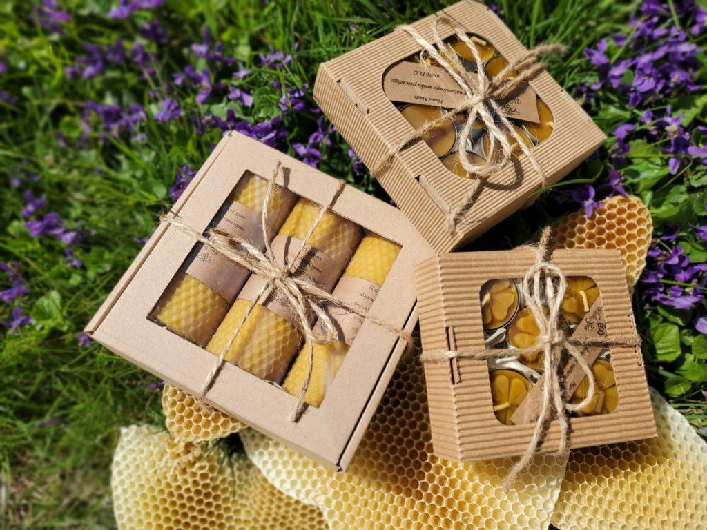 świece woskowe z naturalnego wosku pszczelego